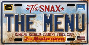 The Snax - Menu